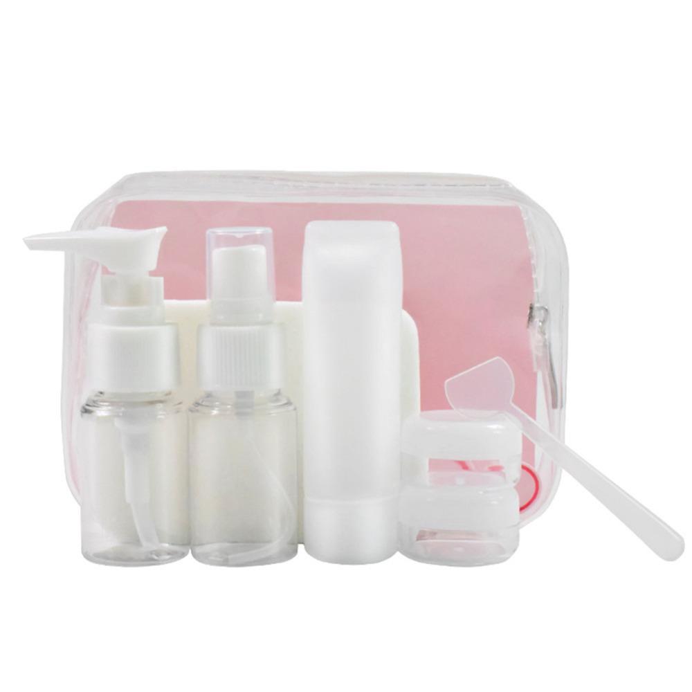 0813039566b0 Portable 6pcs/set Travel Empty Pressed Bottle Shampoo Cream Lotion  Cosmetics Bottles Perfume Spray Container Refillable Bottles