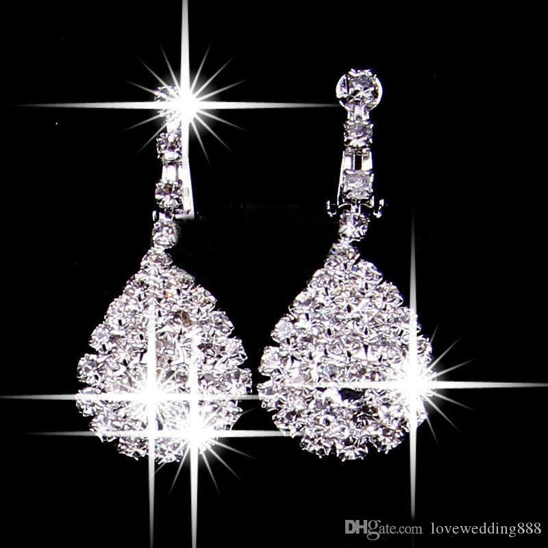 Bling Bling Shine Two Pieces Jewelry Sets 2019 Earrings&Necklaces Bridal Cheap Wedding Bridal Accessories Hot Sale