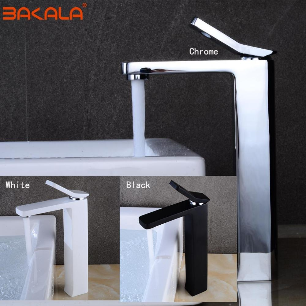 2018 Bakala New Design Leaf Shape Faucet Chrome Black Bathroom ...