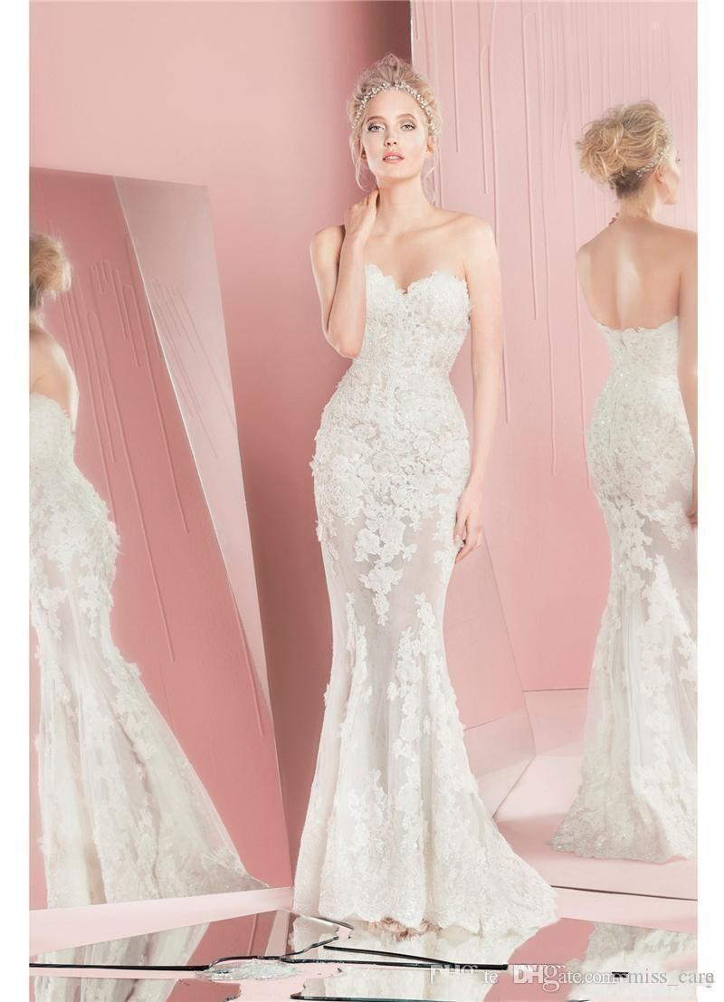 Vintage Zuhair Murad Wedding Dresses with Detachable Skirt Lace Long Sleeves Fitted Sweetheart Applique Overskirt Plus Size Bridal Gowns
