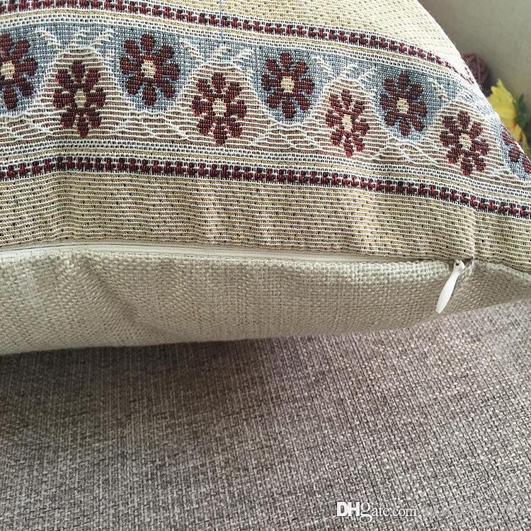 Nueva funda de almohada caliente multicolor Jacquard Owl Series Juego de almohadas de algodón americano Funda de cojín Conjunto de almohada en la cintura del coche