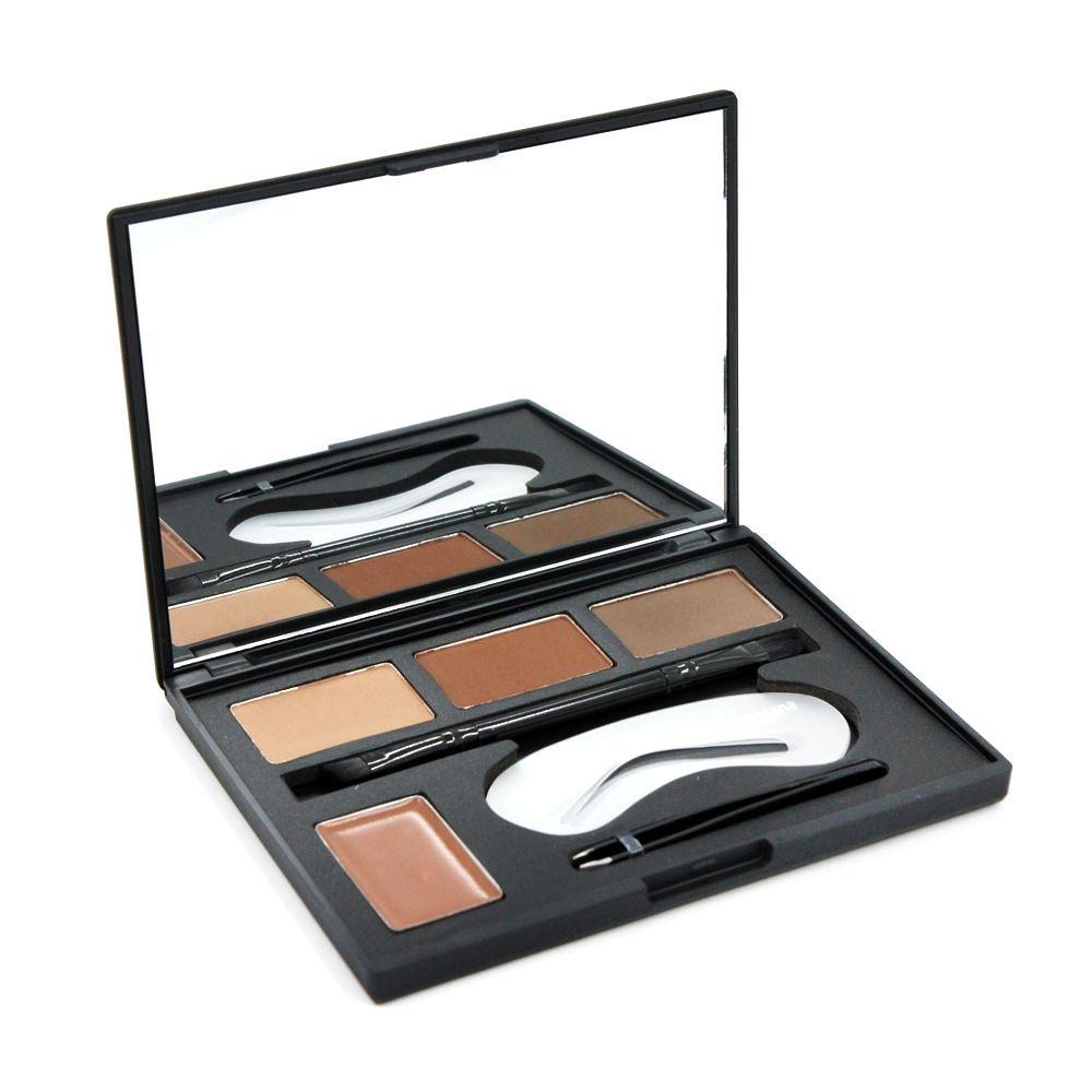 Eye Brow Contour Kit Eyebrow Makeup Palette Brow Powder Brow Stencils with Brush Duo Tweezer Eyebrow Enhancer Highlighter Concealer