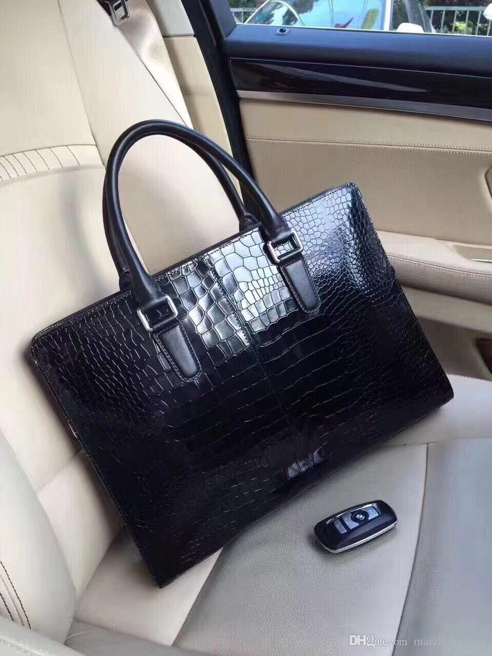 c3ef4fc23401 Designer Handbags New Arrival Patent Leather Alligator Business Handbags  2018 Luxury Bag Fashion Black Women Tote Handags Cute Bags Purses For Women  From ...