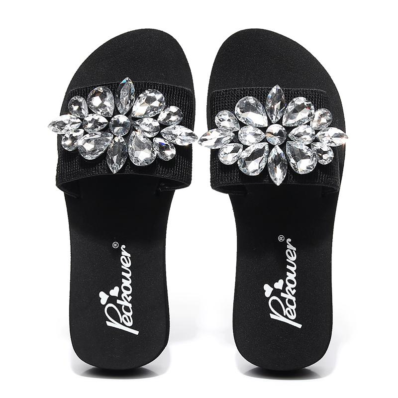460209683 2018 Shoes Slides Fashion Sandals Summer Shoes Wedges Rhinestone Casual Women  Slippers Womens Loafers Fashion Shoes From Ajshoesstore