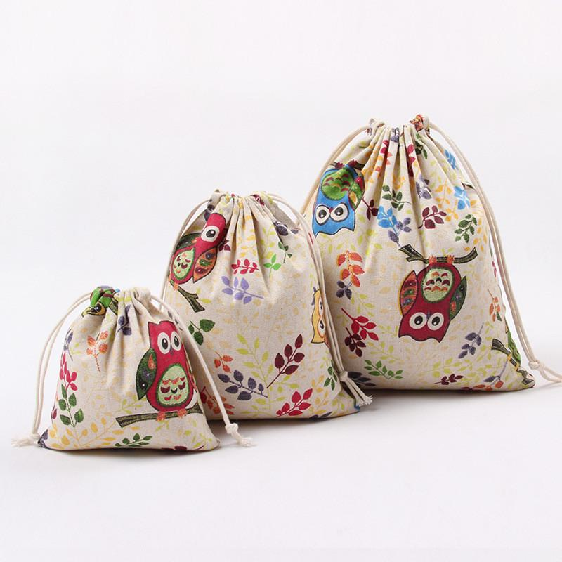 Großhandel Weihnachtsgeschenke Taschen Mode Eulen Gedruckt Leinwand ...