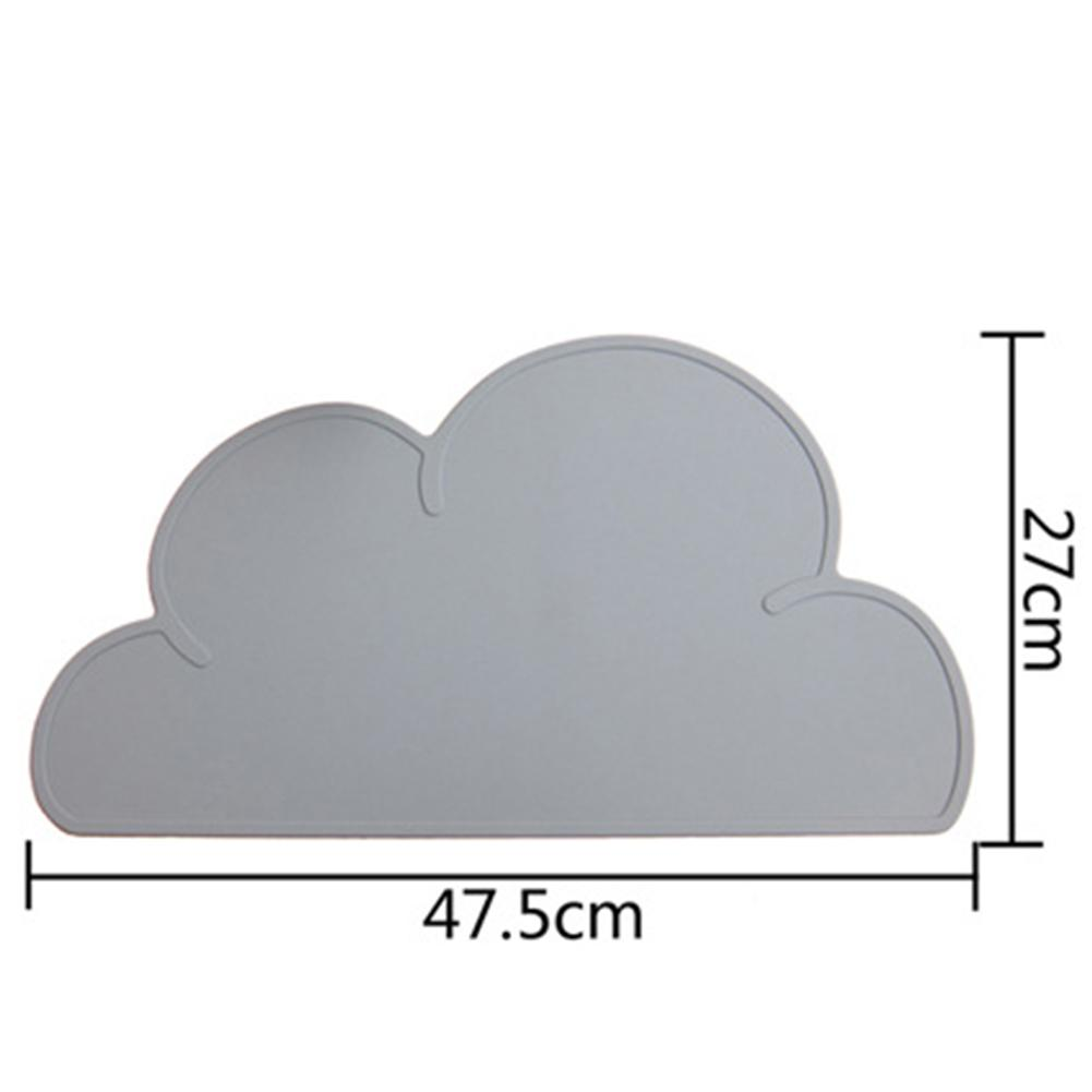 Hottest Design New Kitchen Accs 47.5cm*27cm Utensil Mats Heat Resistent Silicone Cloud Shaped Placemat For Baby Tableware Mat