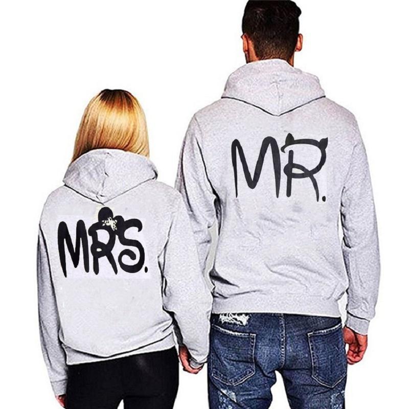 Compre MR MRS Ama A La Pareja Hip Hop Mujer Hombre Mujer Hombre Chaqueta De  Abrigo Ropa Detroit Marca Imprimir Gris Anime Sudadera Con Capucha  L18100704 A ... 1fb500a4aab