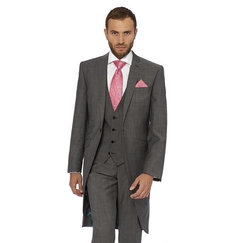 search for clearance big discount sale new style Custom-tailor dark gray Groom men suit Tuxedos Notch Lapel one button  Groomsman mens Suits 2017 ( jacket+Pants+vest+tie)