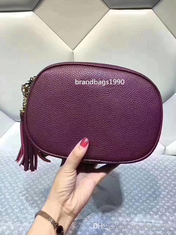 2018 hot selling Big brand Chains Shoulder Bag Wiith Tassel designer handbags composite bags Cross Body Cowhide Genuine Leather totes