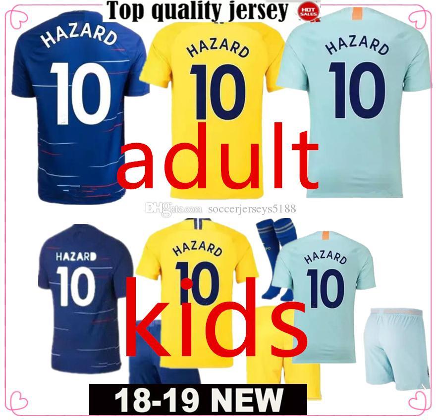 detailed look 291ec 450e7 New Thailand HAZARD JORGINHO soccer jersey 2019 MORATA RUDIGER GIROUD  jersey 18 19 KANTE football jerseys 18 19 kids football kits shirt Cam