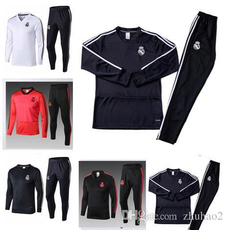 free shipping 6ac41 938f1 2018 2019 Real Madrid Football tracksuit JAMES BALE RAMOS ISCO jacket  training suit Marcelo Vieira Camiseta de fútbol training suit