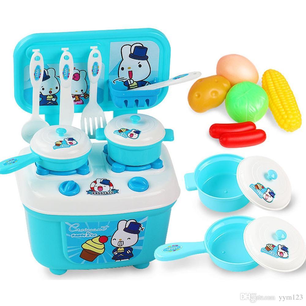 2018 Children Kitchen Set Pretend Play Cut Toy Utensils 9 Fruit ...