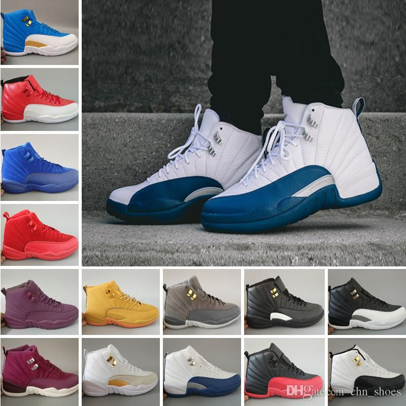 5672889eaeec French Blue 12 Basketball Shoes Mens Womens Cherry White the Master ...