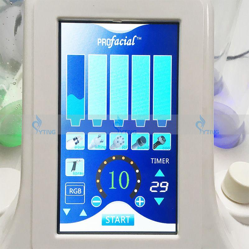 2018 Más Nuevo Hydro Dermabrasion Cold Hammer BIO Máquina Ultrasónica PDT LED Terapia de Luz Agua Limpieza Facial Oxygen Jet Peel Spa Equipment