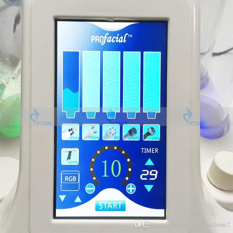 2018 Nuevo 7 en 1 BIO RF Hydro Hammer Hydro Microdermabrasión Hidra de agua Dermabrasión Spa Facial Terapia de oxígeno Máquina de limpieza de poros