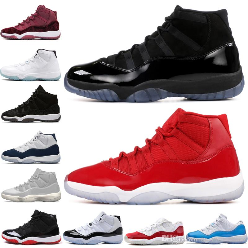 c2cfea5b767 11 11s Cap And Gown Prom Night Mens Basketball Shoes Gym Red Bred PRM  Heiress Barons Concord Cool Grey Men Sports Sneakers Trainers Designer  Online with ...