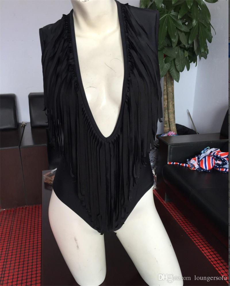 I più venduti Costume da bagno bikini sexy Moda nappa costume intero Costumi da bagno donna Bikini maturi signora 23xo W