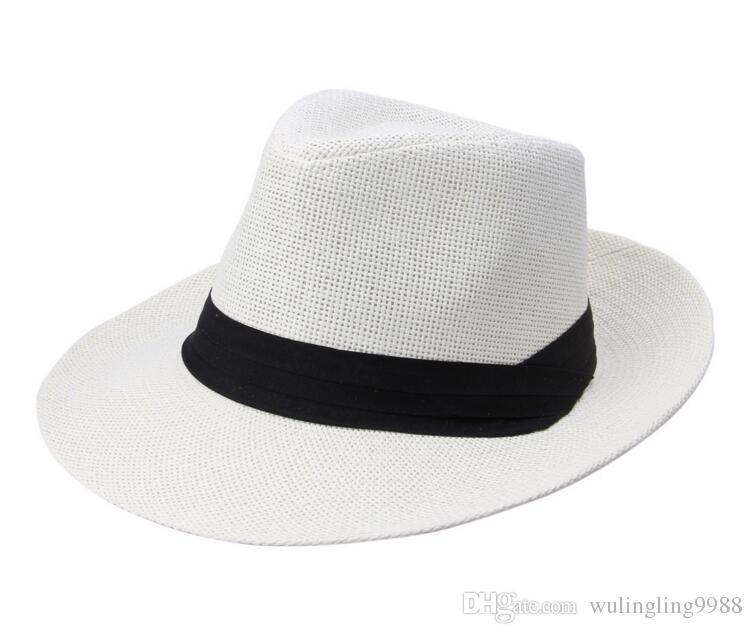 Amplia la moda sombreros de paja borde, sombrero de las señoras sol, sombrero de paja del verano, hombres y mujeres de gran sombrero vaquero casquillo de la playa de es