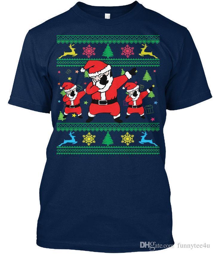0a794ce4 Machine Washable Dabbing Santa Ugly Christmas Sweater T Shirt T Shirt  Élégant T Shirt Men Gorgeous Custom Short Sleeve Boyfriend'S Plus As T Shirt  Online T ...