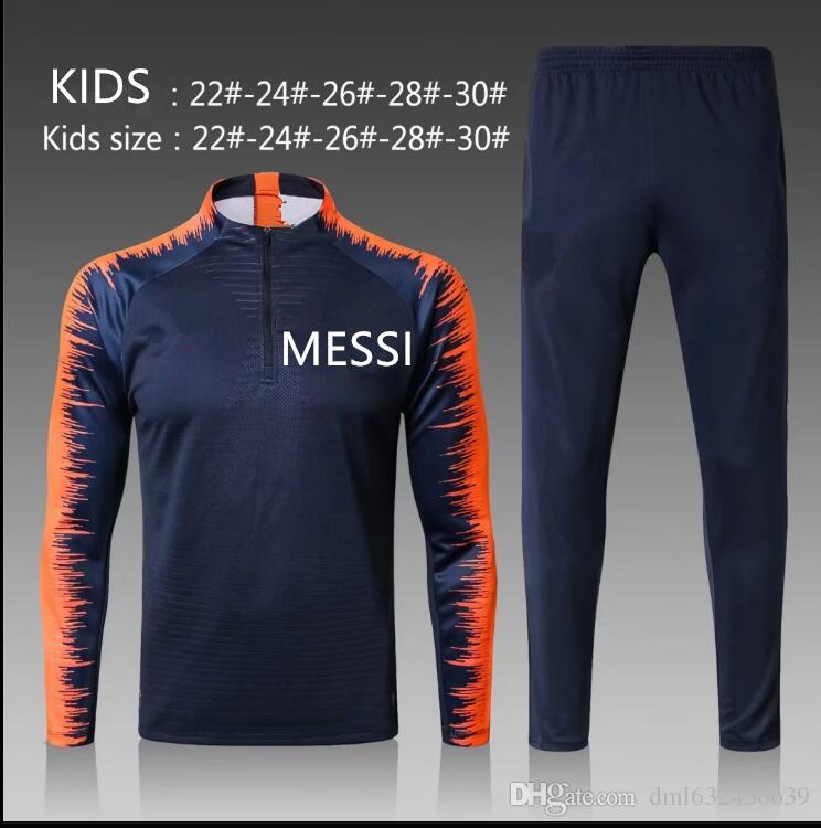 fe99ad892 2019 BEST Quality 2017 2018 MESSI Kids Kit Jacket Tracksuit 17 18  Sportswear PIQUE INIESTA SUAREZ Jacket Training Suit CHANDAL From  Dml63245oo39