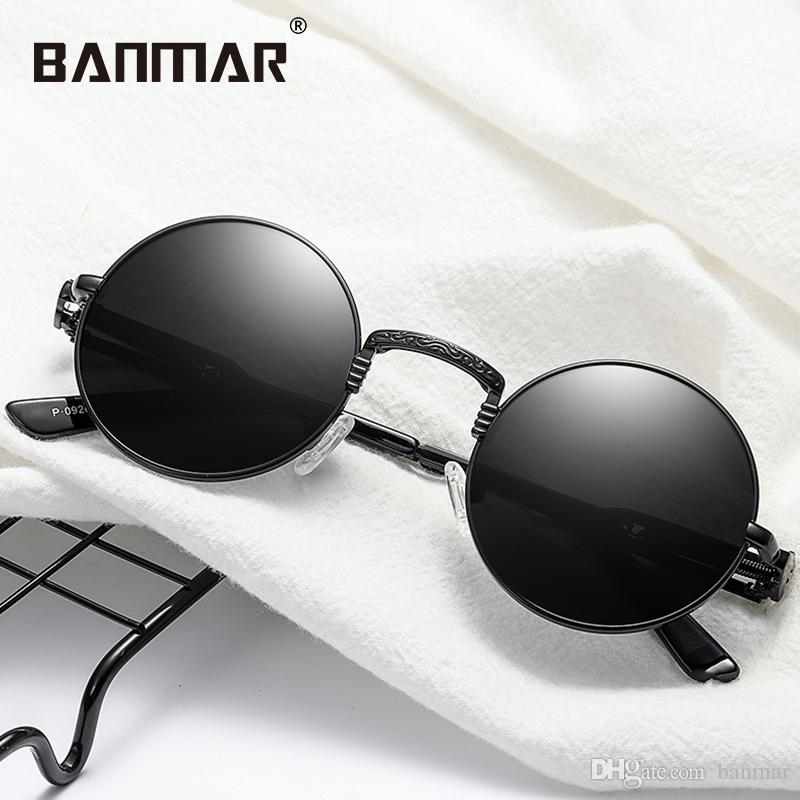781ee4d96 BANMAR Gothic Steampunk Sunglasses Men Women Metal Eyeglasses Round Shades  Brand Designer Sun Glasses Mirror High Quality UV400 0926 Wiley X Sunglasses  ...