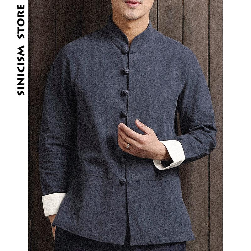 Acquista Negozio Di Sinicismo Camicie Di Lino In Cotone Da Uomo Bottoni Da  Uomo Camicie A Maniche Lunghe Camicia Casual Casual In Stile Cinese Maschile  Plus ... 17452e41b6a