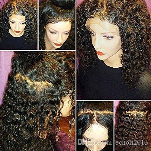 변태 곱슬 전체 레이스 인간의 머리 가발 360 레이스 프론트 130 % 밀도 인간의 머리 부분 360 레이스 정면 가발
