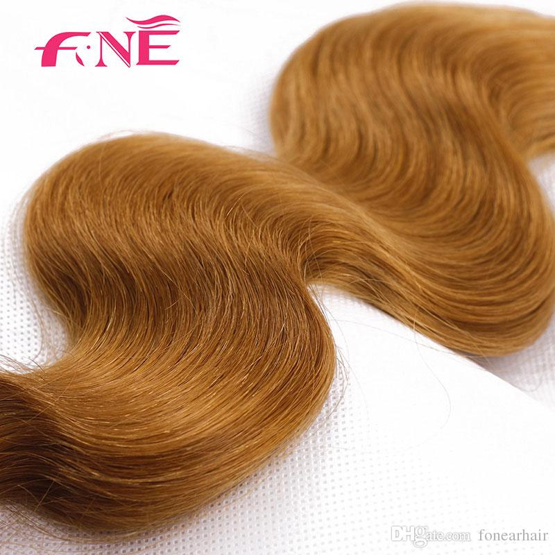 Chinese Virgin Hair Body Wave Bundles Light Brown Hair Weaves Unprocessed Cheap Extensions 27# Human Hair