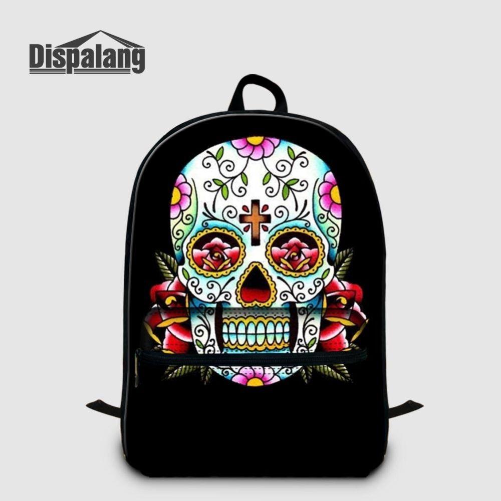 f7f64f36d6af Punk Skull Prints Children School Backpacks Women Bagpack Casual Daily Back  Pack For Student Bags Cotton Laptop Backpack Rugtas Osprey Backpacks Book  Bags ...