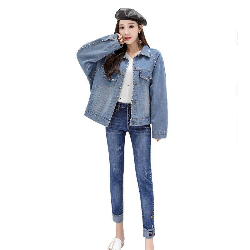 Vintage Veste Femme Corée Acheter Automne De Mode Femmes Hiver Denim CfnwSvOqx