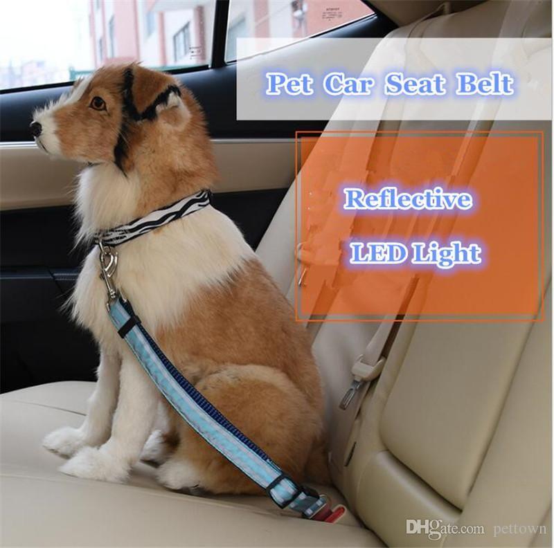 Pet Seat Belt >> B42 Reflective Led Pet Seat Belt Nylon Dog Traction Rope Keep Pet S