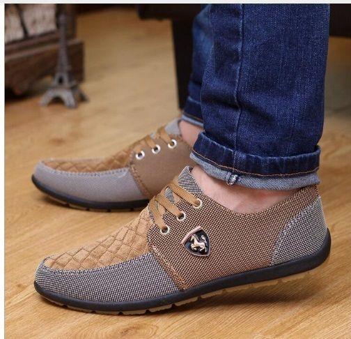27ecc7a60 Compre 2019 2016 Zapatos Casuales Para Hombre Zapatos De Lona Para Hombre  Zapatos Para Hombres Moda De Cuero Pisos Marca De Moda Ante Zapatos De  Hombre ...
