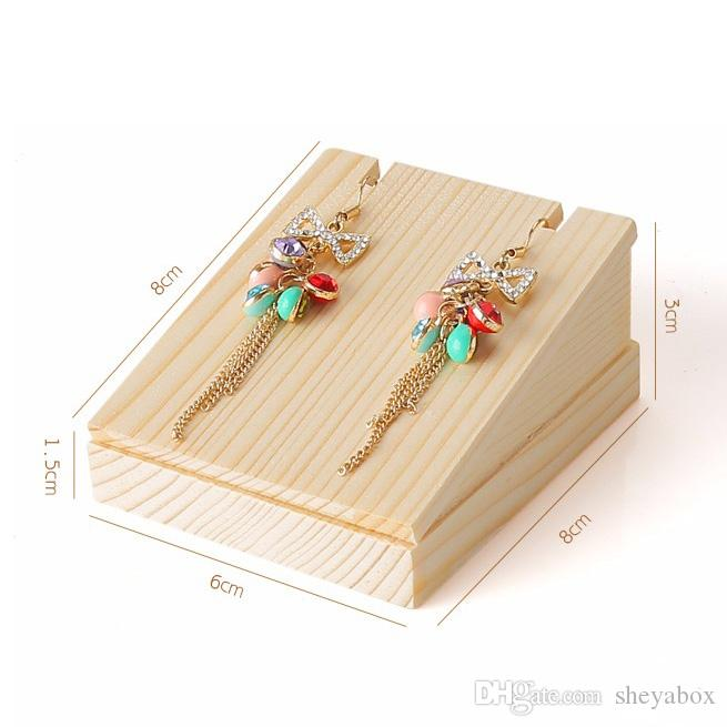 Wood Jewelry Necklace Display Stand Small Jewellery Pendant Charm Necklace Shop Counter Showcase Shelf Kiosk Stall Exhibition Holder