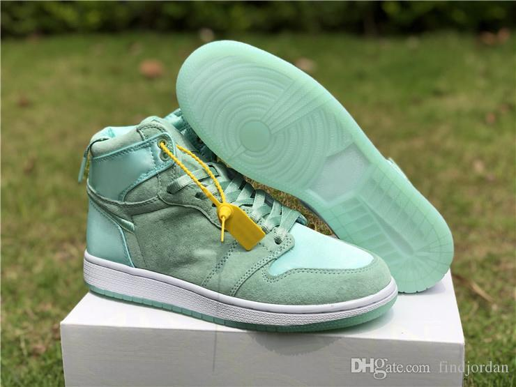 1 High SOH Collection women basketball shoes embroidered silk design 1s Summer of High Hydrogen Blue Barely Grape Light Aqua ladies sneaker