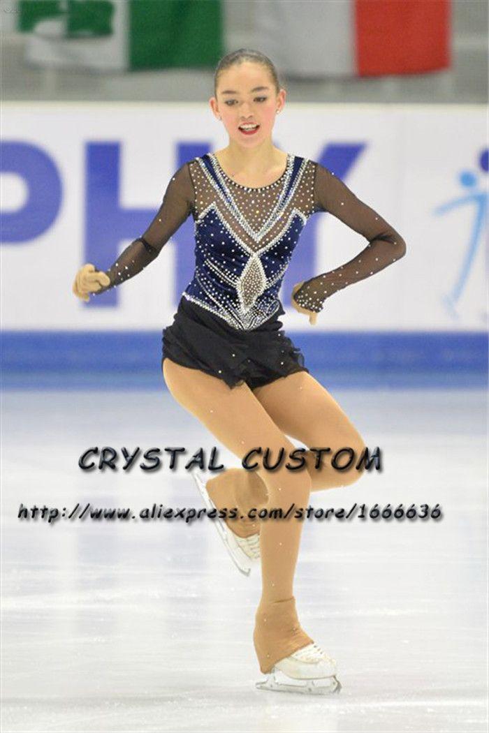 74a4cb05c Vestidos de patinaje artístico de cristal personalizados para niñas Nueva  marca Vestidos de patinaje sobre hielo para la competencia DR4554
