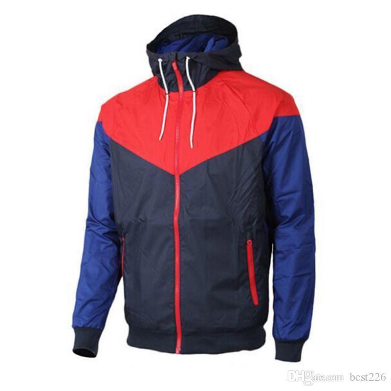 Homens Primavera Outono Windrunner jaqueta fina jaqueta casaco, homens esportes jaqueta blusão Windbreaker Coats moletom treino livre