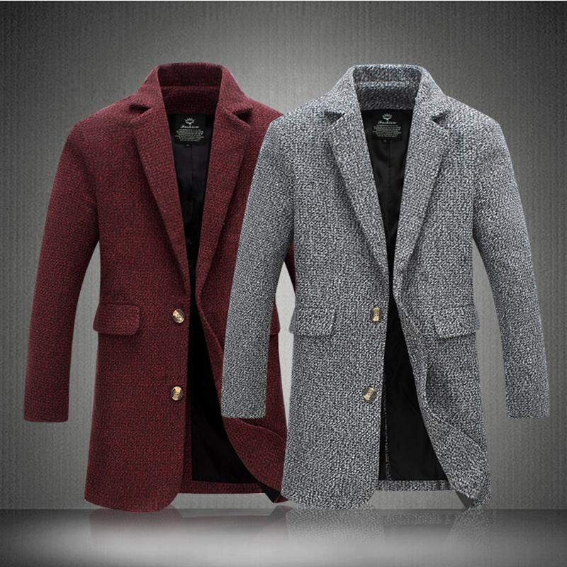 59fc135b199e2 2019 Long Woolen Trench Coat Men Windbreaker Winter Fashion Mens Overcoat  Quality Warm Trench Coat Male 2018 New From Buttonline, $103.78 | DHgate.Com