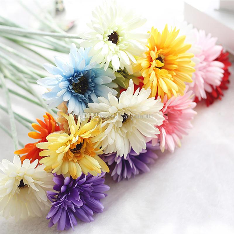 2018 artificial silk flower sunflower bouquet clothing wedding 2018 artificial silk flower sunflower bouquet clothing wedding decorative flower garlands flower heads home party decor multi colors from liangxin001 mightylinksfo