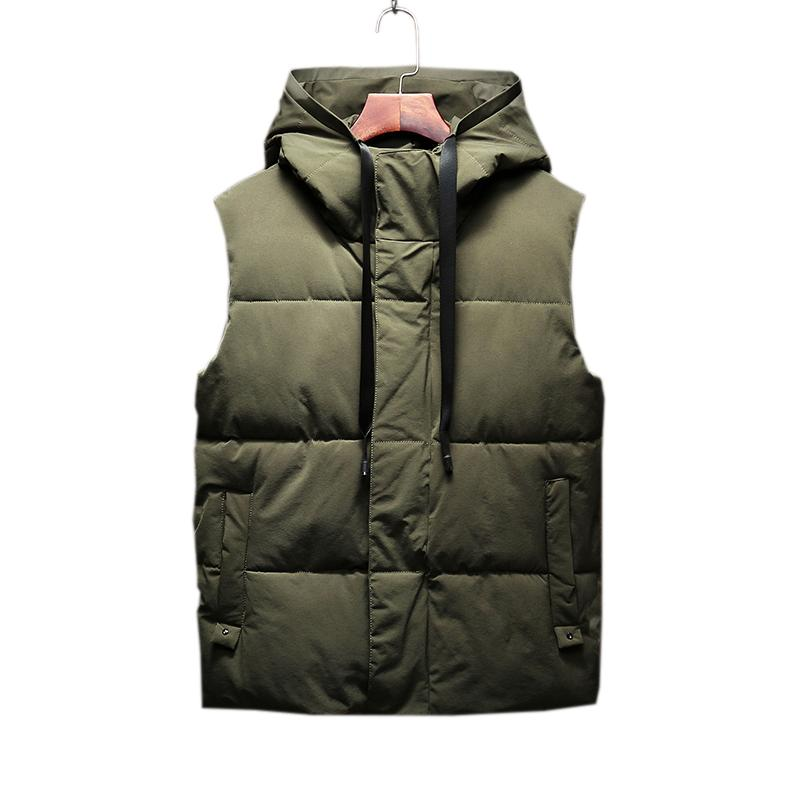 1e101da3416 Autumn and winter men s new hooded fashion vest good quality fashion down  cotton vest youth Korean couple Slim tide jacket P75