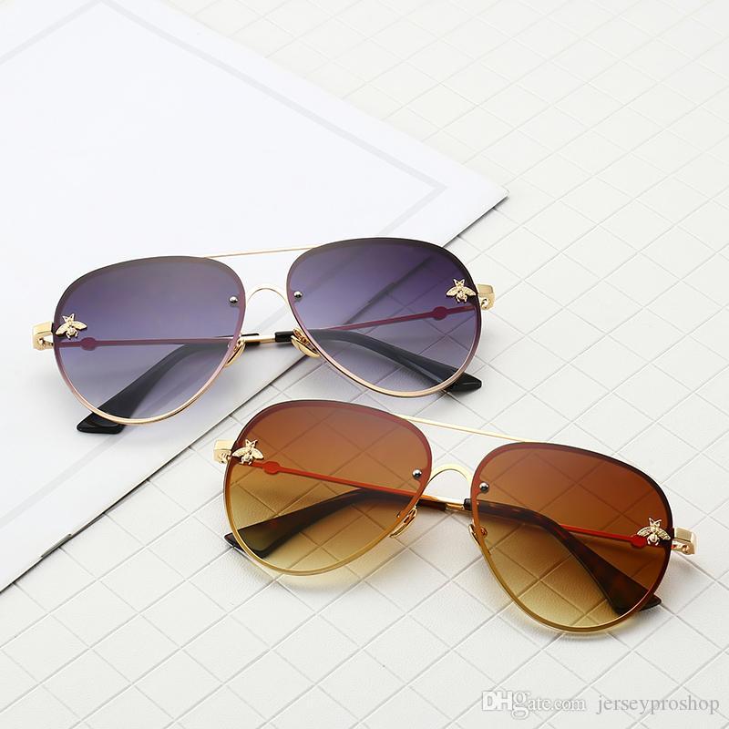 With Wholesale Aviator Grey Pilot 62mm New Box Pcs Brand Black 2201 Sunglasses Eyewear 10 Designer Fashion Bee CxtshBodQr