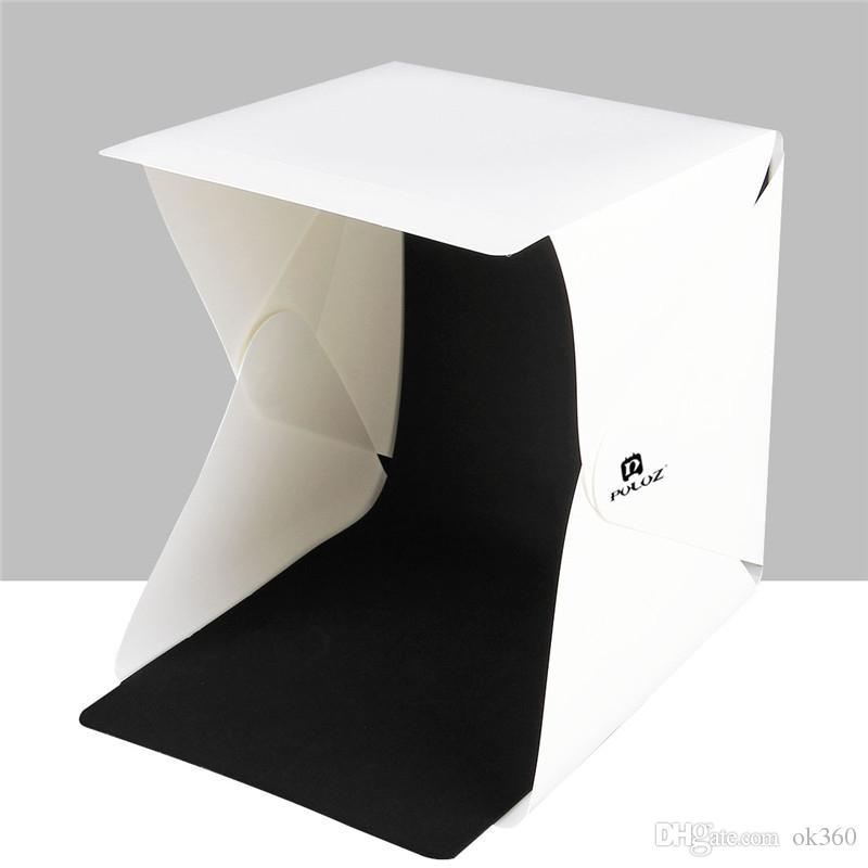 PULUZ 20 * LED 라이트 블랙 화이트 사진 배경 사진 스튜디오 상자 20cm 8 미니 접는 스튜디오 확산 소프트 박스 라이트 박스