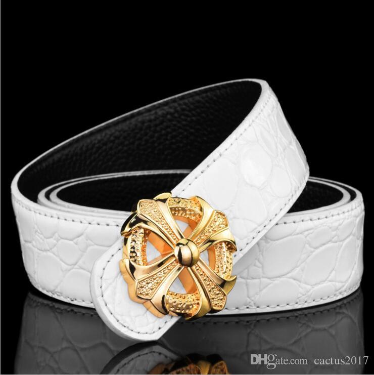 Designer belts luxury lady belt cruciate flower brand name metal belt luxury Genuine Leather Belts For women