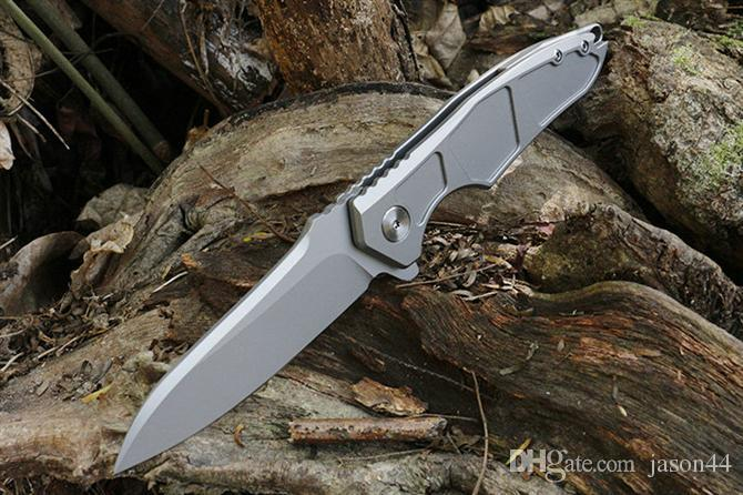 Excellent S35VN couteau pliant tc4 titane alliage poignée système de roulement à billes durable, lisse et haute qualité couteau de survie couteau de poche
