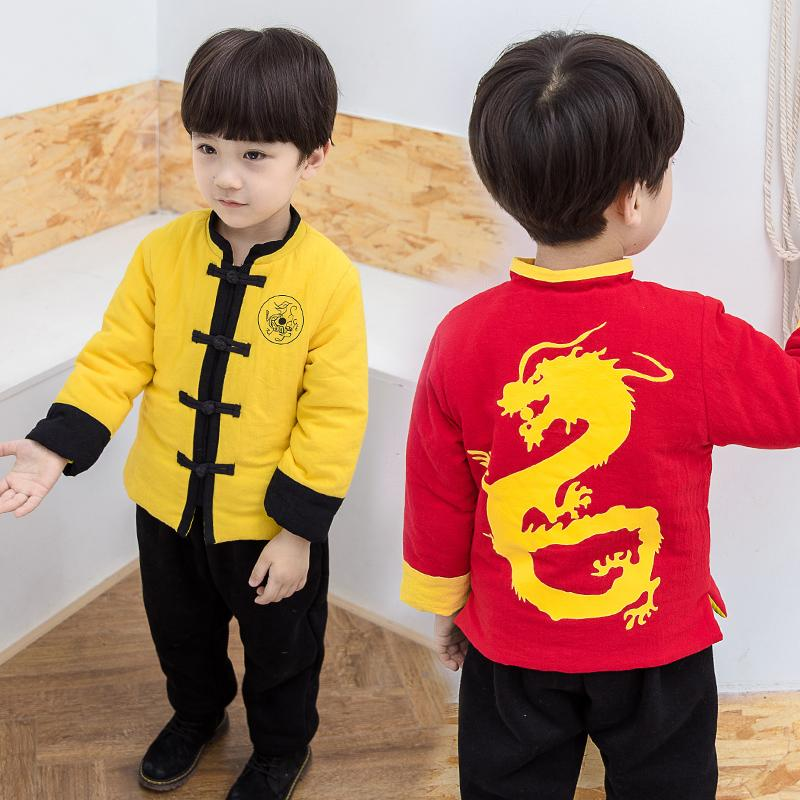 b2c0781f1 2019 1 7 Years Boys Chinese Traditional New Year Clothing Kids Clothes Sets  Thick Printed Dragon Spring Festival Tang Suit Cartoon From Beasy, ...