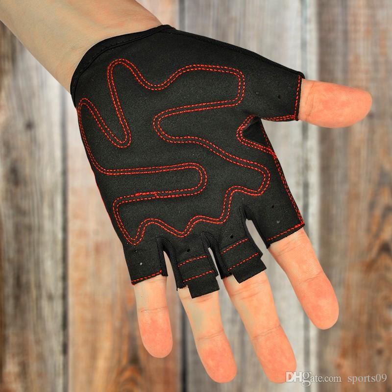 Boondun велосипед перчатки половина палец велосипед оборудование для мужчин и женщин Велоспорт тренажерный зал перчатки черный красный Pad нескользящей тренажерный зал фитнес паркур перчатки