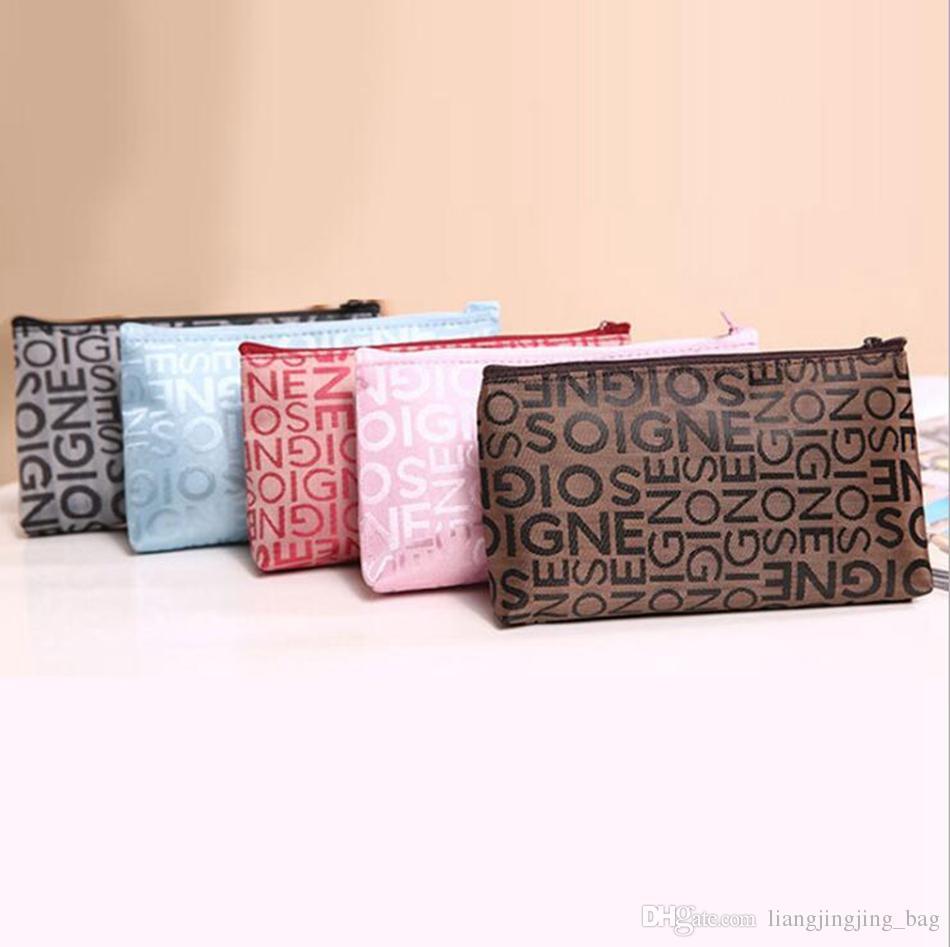 13278431f7 2019 Women Portable Cosmetic Bag Letter Print Zipper Travel Makeup Bag  Letter Makeup Case Pouch Toiletry Organizer Holder OOA4461 From  Liangjingjing bag