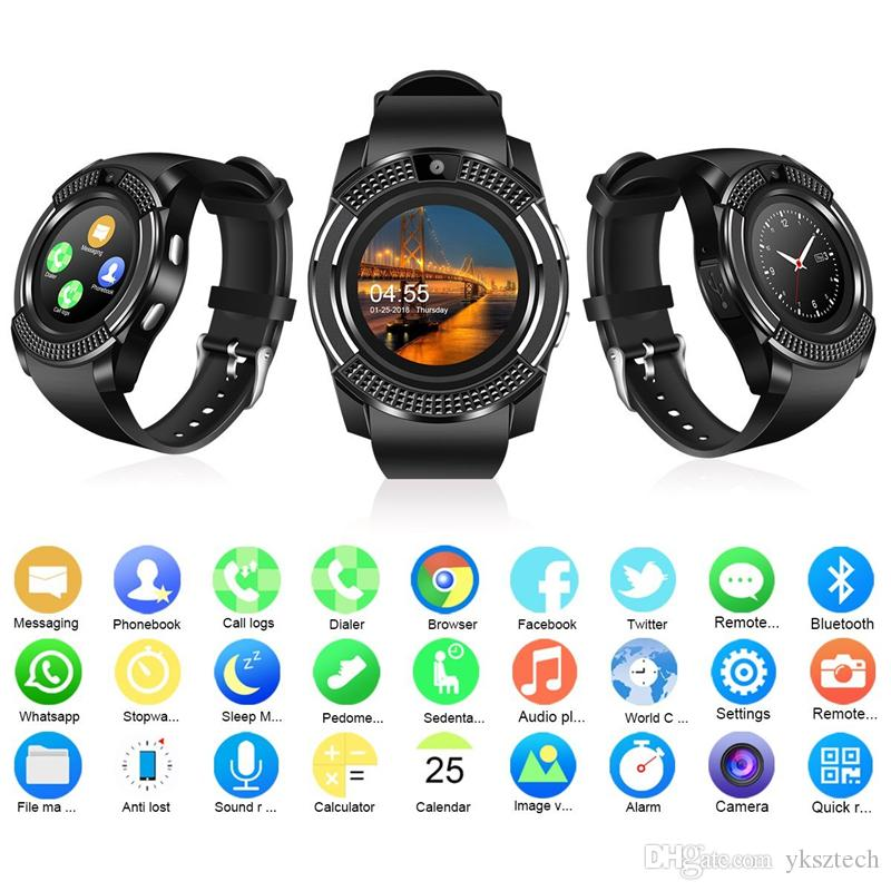 v8 sports smartwatch bluetooth 3 0 message push sedentary. Black Bedroom Furniture Sets. Home Design Ideas