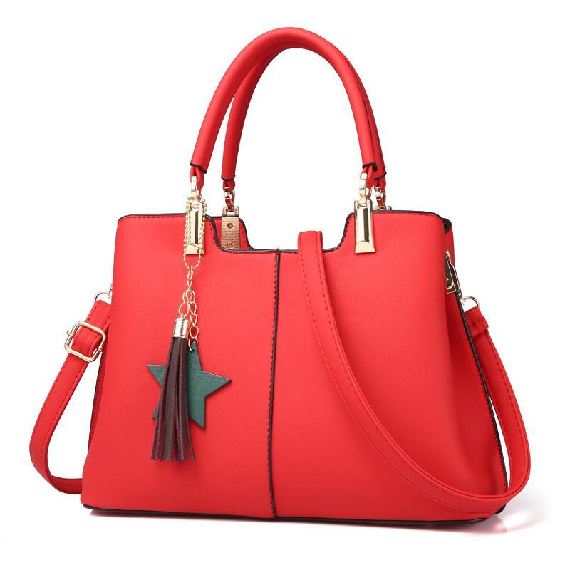 2abdc09ed812 Leather Handbags Women 2018 New Brand Tassel Bags Ladies Sweet Handbag  Fashion Solid Color Crossbody Shoulder Messenger Bag WH79