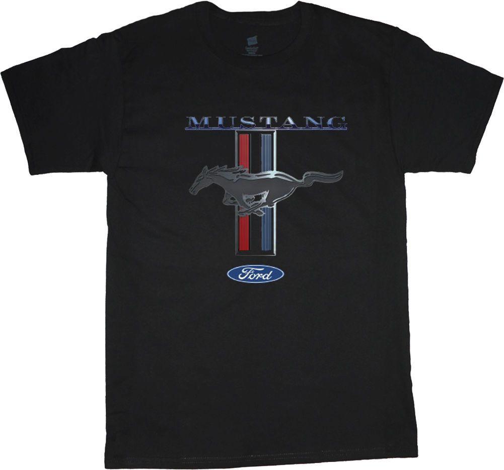 Grosshandel Ford Mustang T Shirt Fur Manner Mustang Pony Tri Bar T