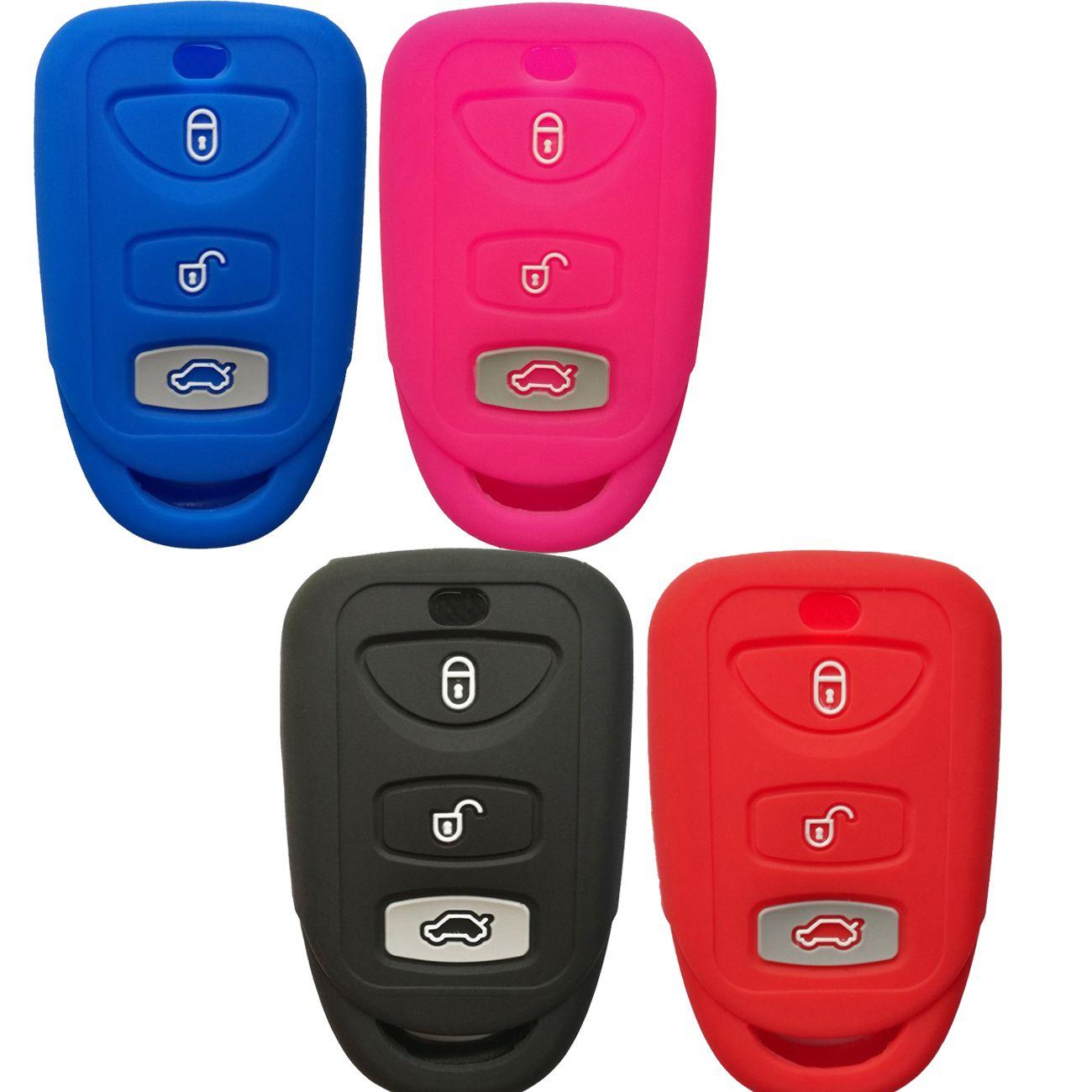 3buttons Key Fob Cover Case Keyless Entry Jacket Protector Holder For Hyundai Elantra Genesis Sonata Kia Sorento Forte Optima Rondo Spectra